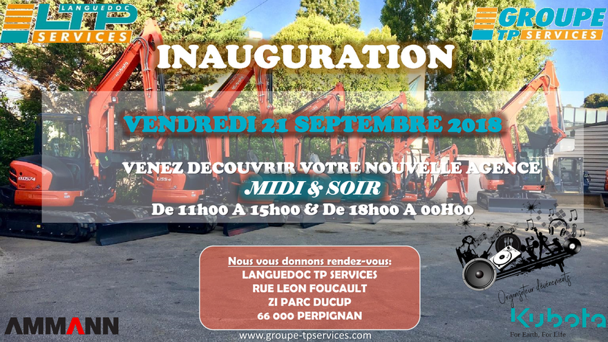 INAUGURATION LANGUEDOC TP SERVICES